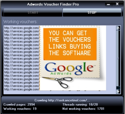 Product picture Adwords Voucher Finder Pro - Software